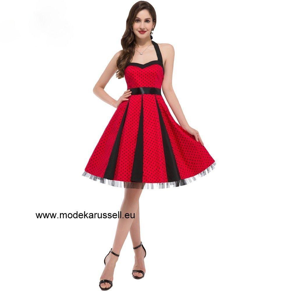 Patchwork Vintage Kleid in Rot Schwarz | Kleider | Pinterest | Rot ...