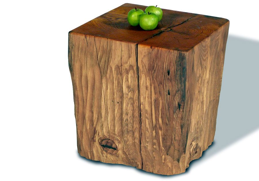 Mural Of Natural Tree Stump Side Table Brings Nature Fragment Into Your  Interior