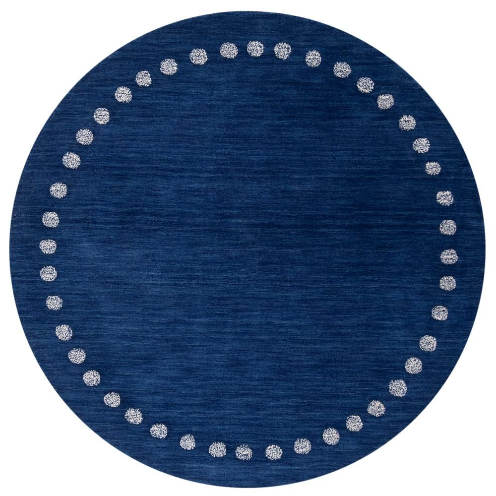 Safavieh Kids Navy 5 Ft X 5 Ft Round Area Rug Products Kids
