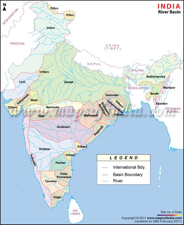 Ganges River India Map : ganges, river, india, Major, River, Basins, India, Indian, Water, Collection