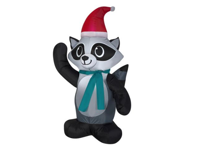 Details about Christmas Inflatable Raccoon 35 Ft Airblown Holiday
