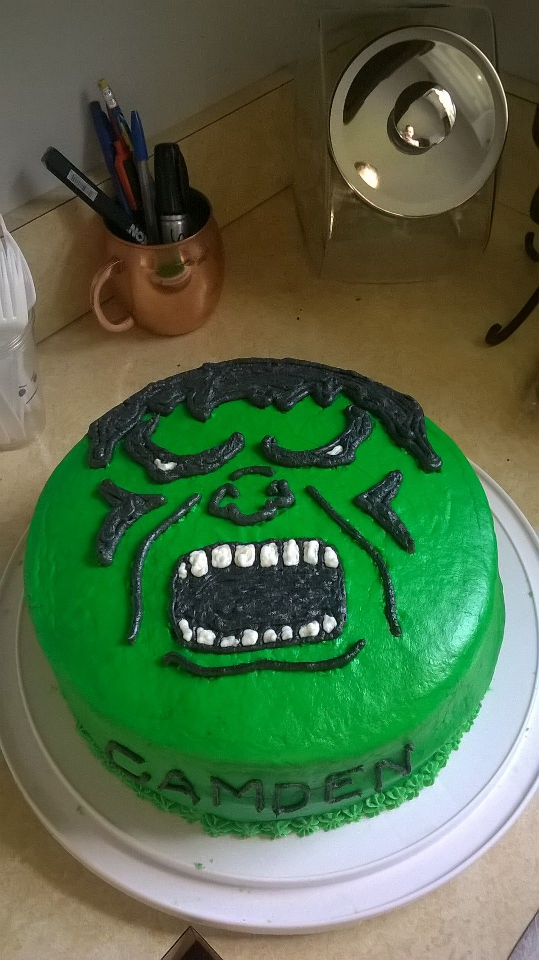 Incredible Hulk Birthday cake Party Cakes Food Pinterest