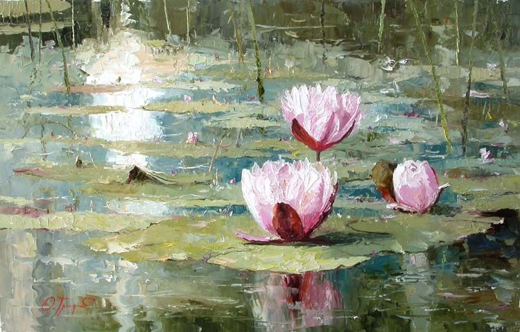 Morning etudes by oleg trofimov for Pintura para estanques