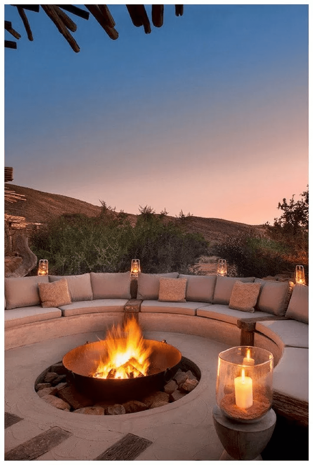 Amazing Backyard Patio Designs Ideas With Firepit