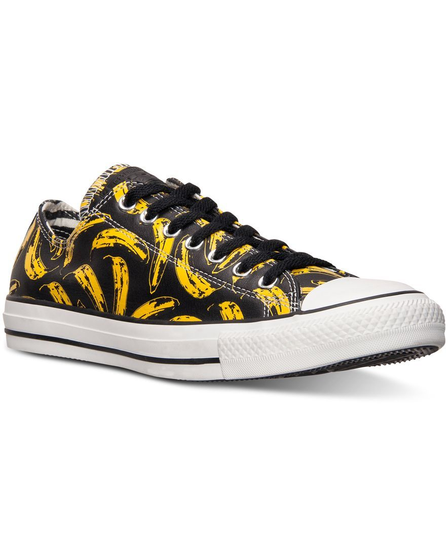 Converse Men's Chuck Taylor Ox Warhol Casual Sneakers from