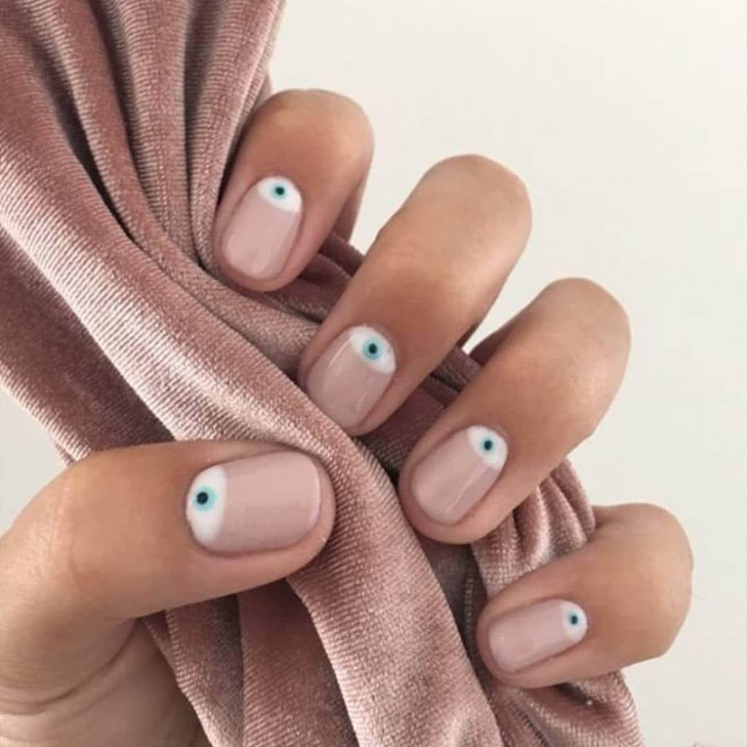 Evil Eye Biosculpture Nails in 2020 Evil eye nails