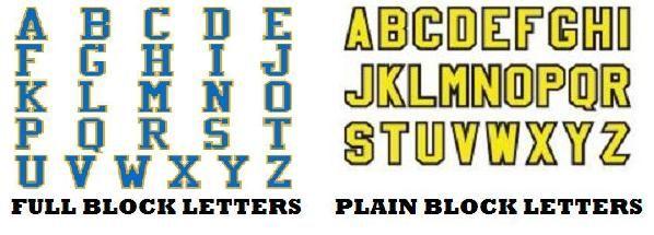 Always Use Full Block Letters Serif Not Plain Block Sans