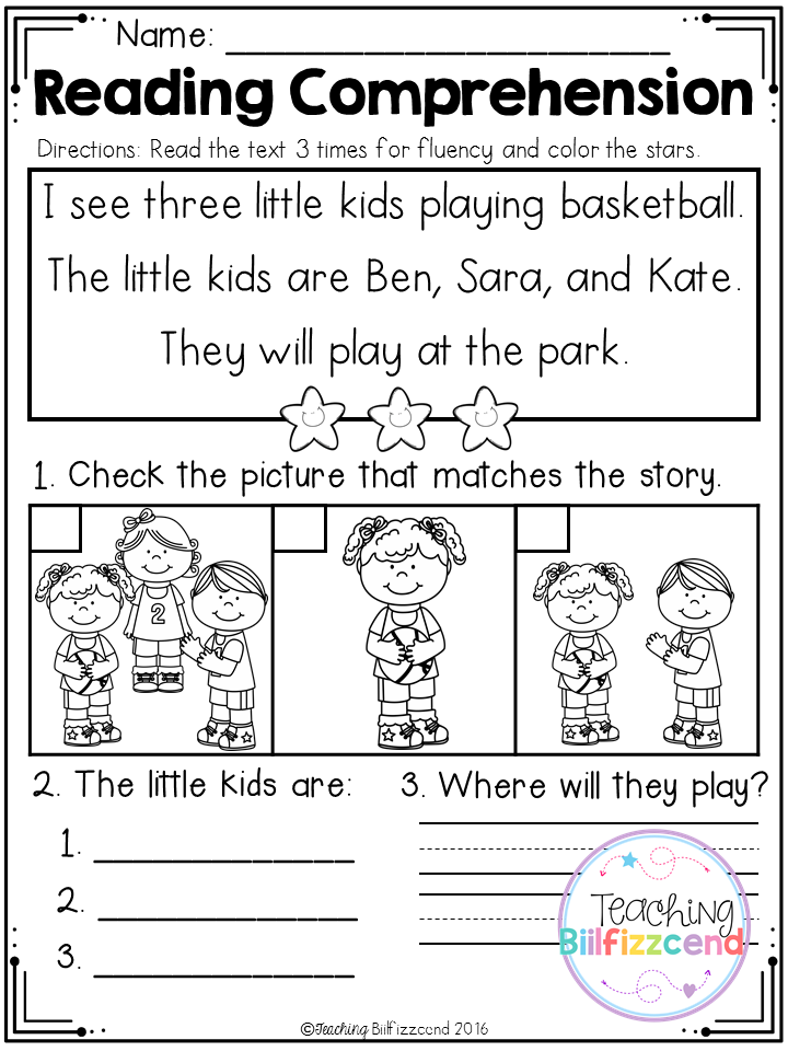 FREE Kindergarten Reading Comprehension (SET 2) | Pinterest ...