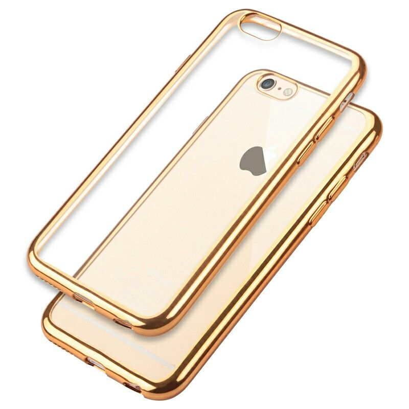 Gold Chrome Framed iPhone 7 Soft Case