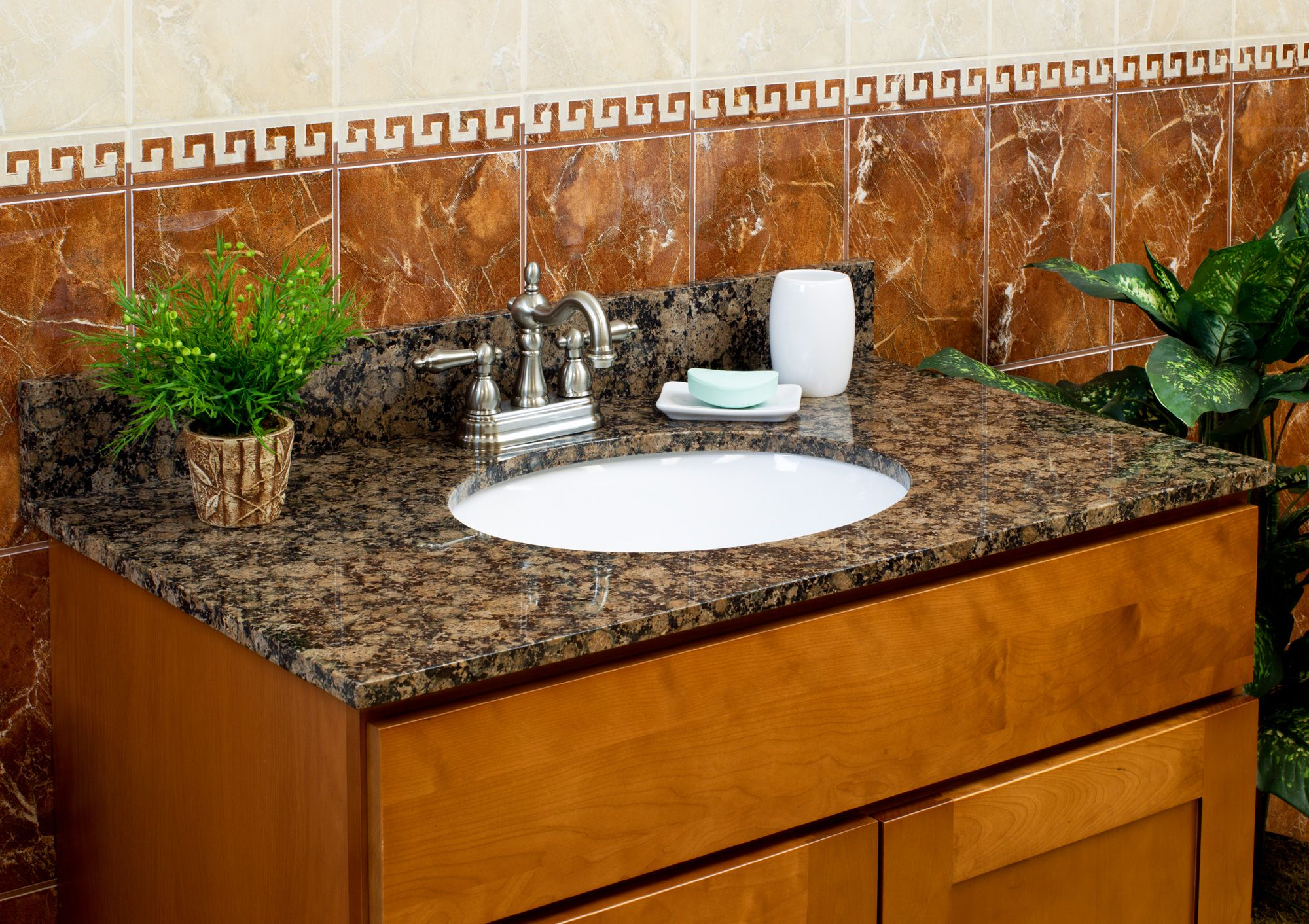 High Quality 36 Bathroom Vanity Cabinet With Granite Top Sink