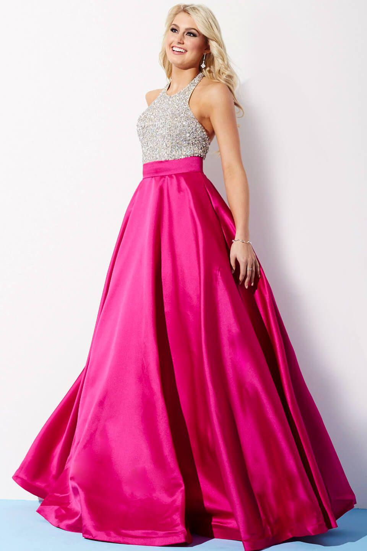 Royal halter ballgown prom dress prom dresses prom