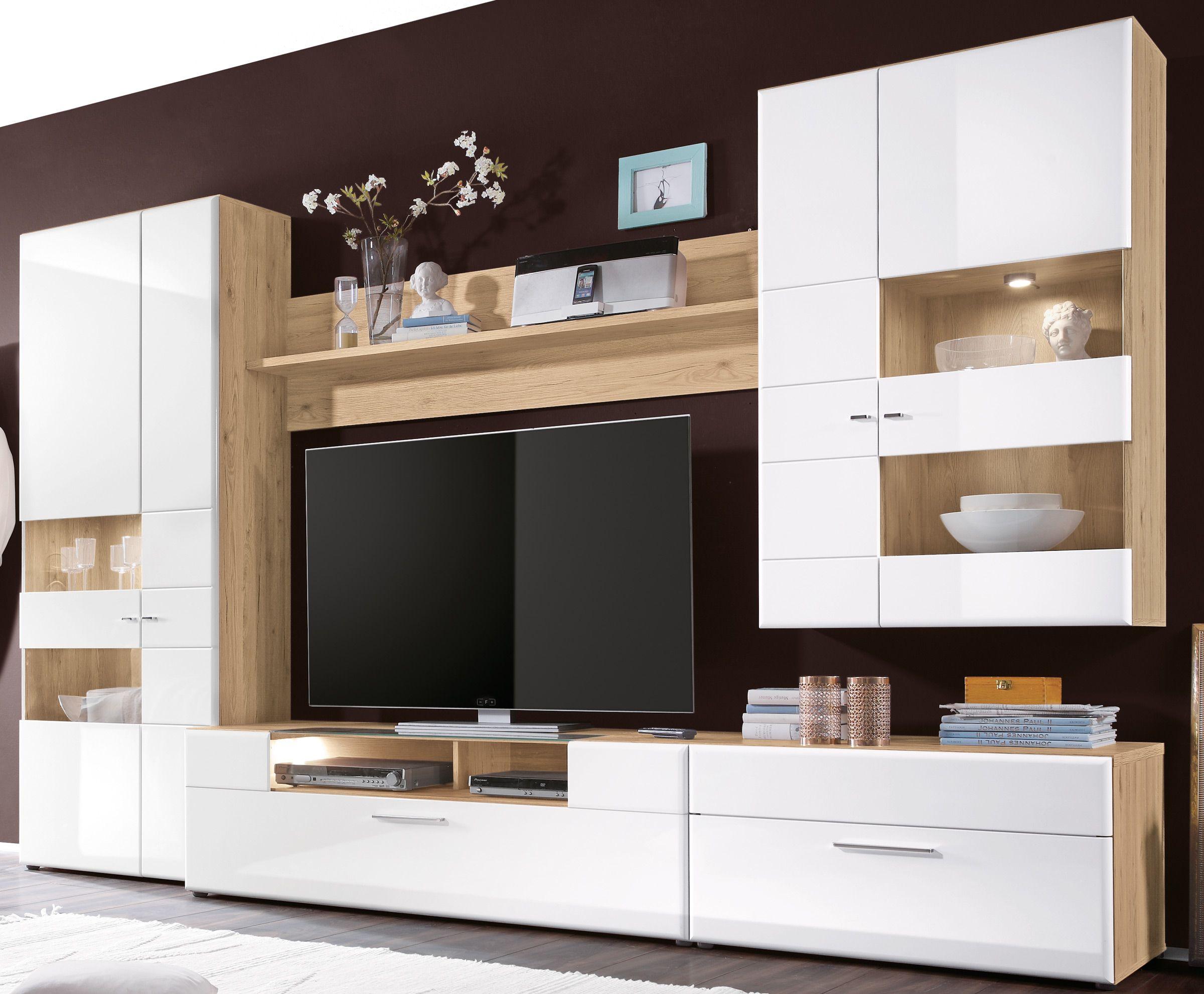 wohnwände günstig online kaufen   Wohnwand weiss, Wohnwand, Wohnwand weiß hochglanz