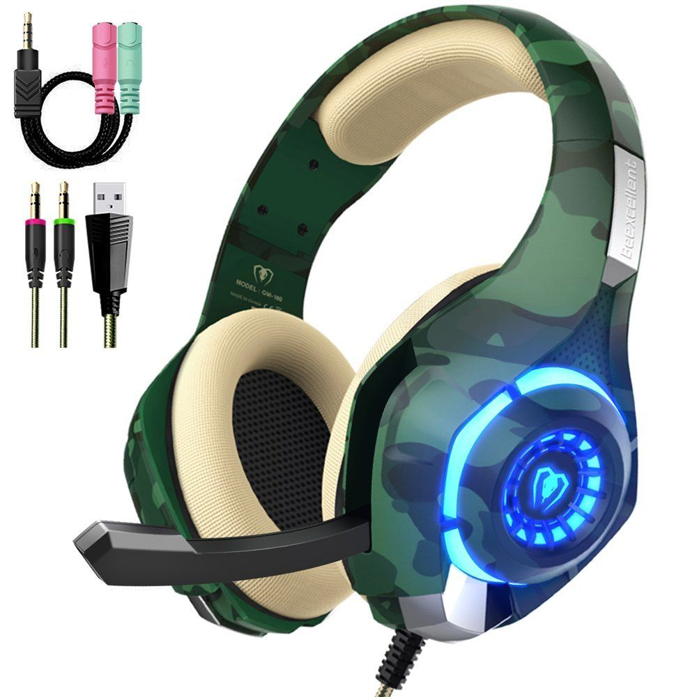 Beexcellent For PS4 Pc Xbox One, Stereo Sound Over Ear Headphones