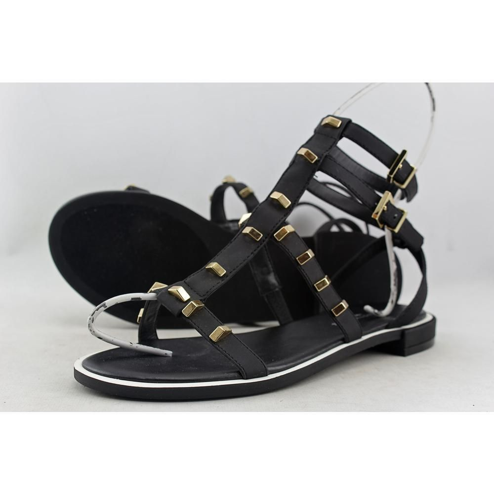 Kenneth Cole NY Neve H6 Women US 7.5 Black Gladiator Sandal Blemish  10293 #KennethColeNY #Gladiator