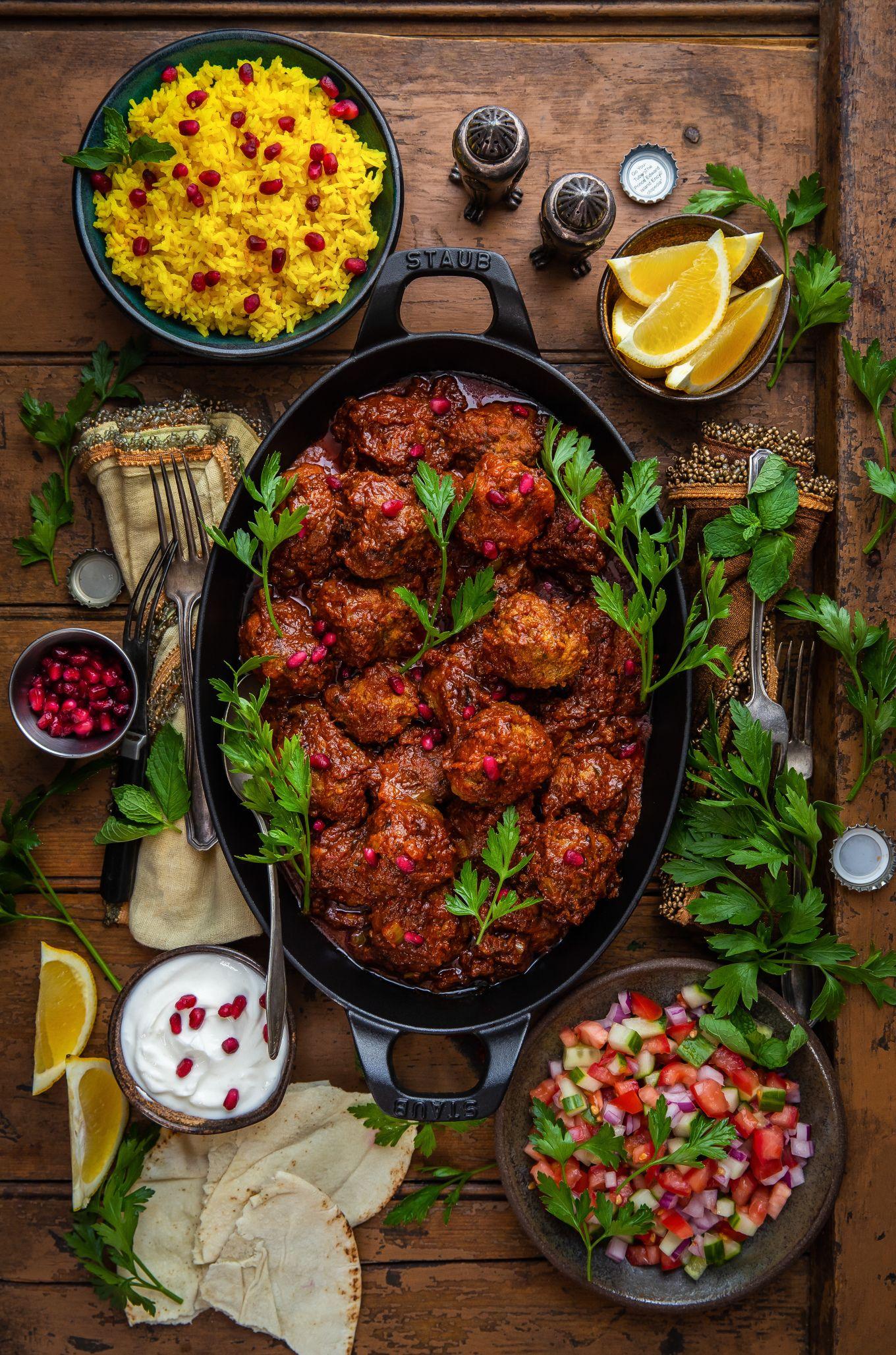 Persian-Style Meatballs | Dennis The Prescott #spanishthings