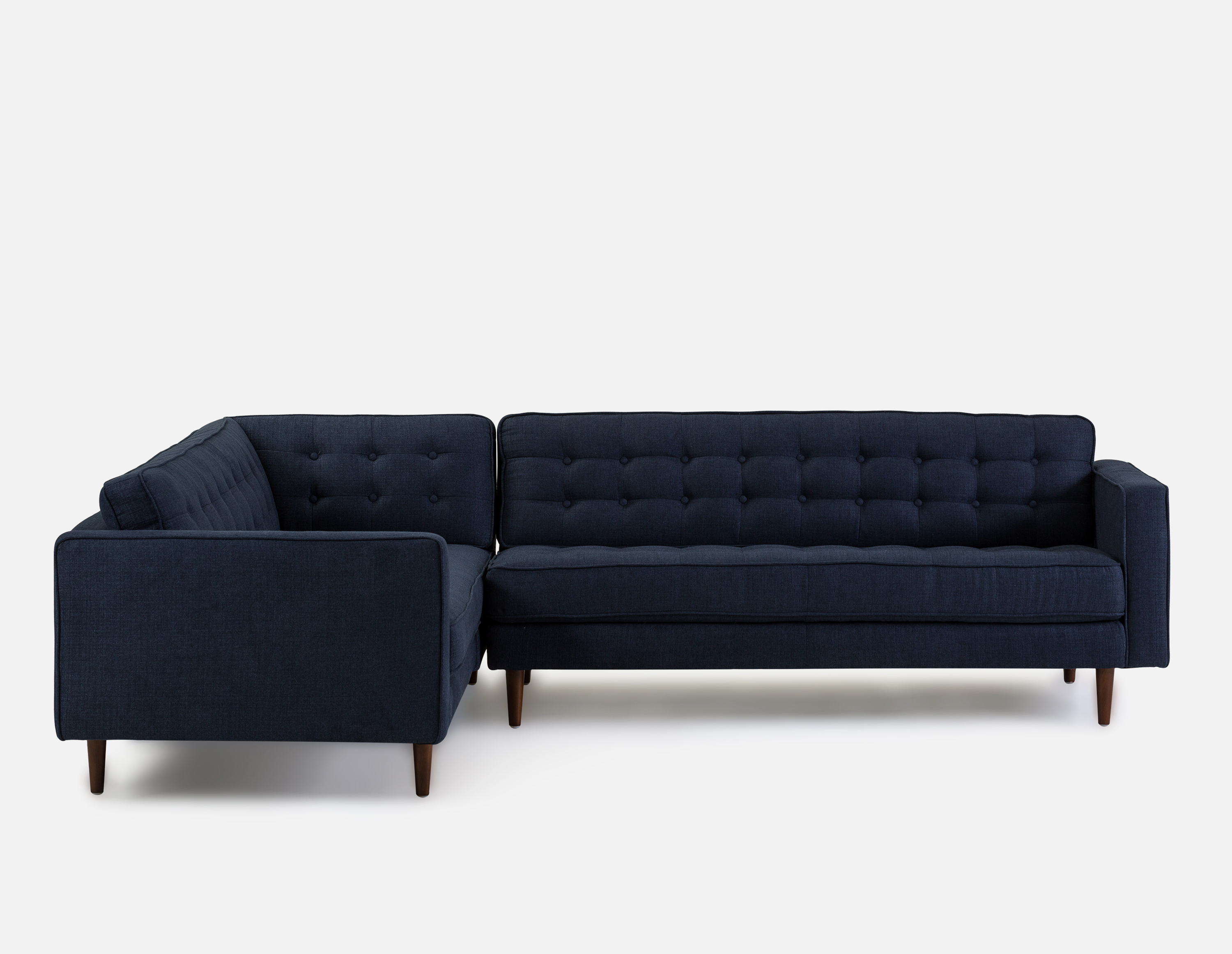 Best Flanigan Blue Left Facing Sectional Sofa Sectional Sofa 400 x 300