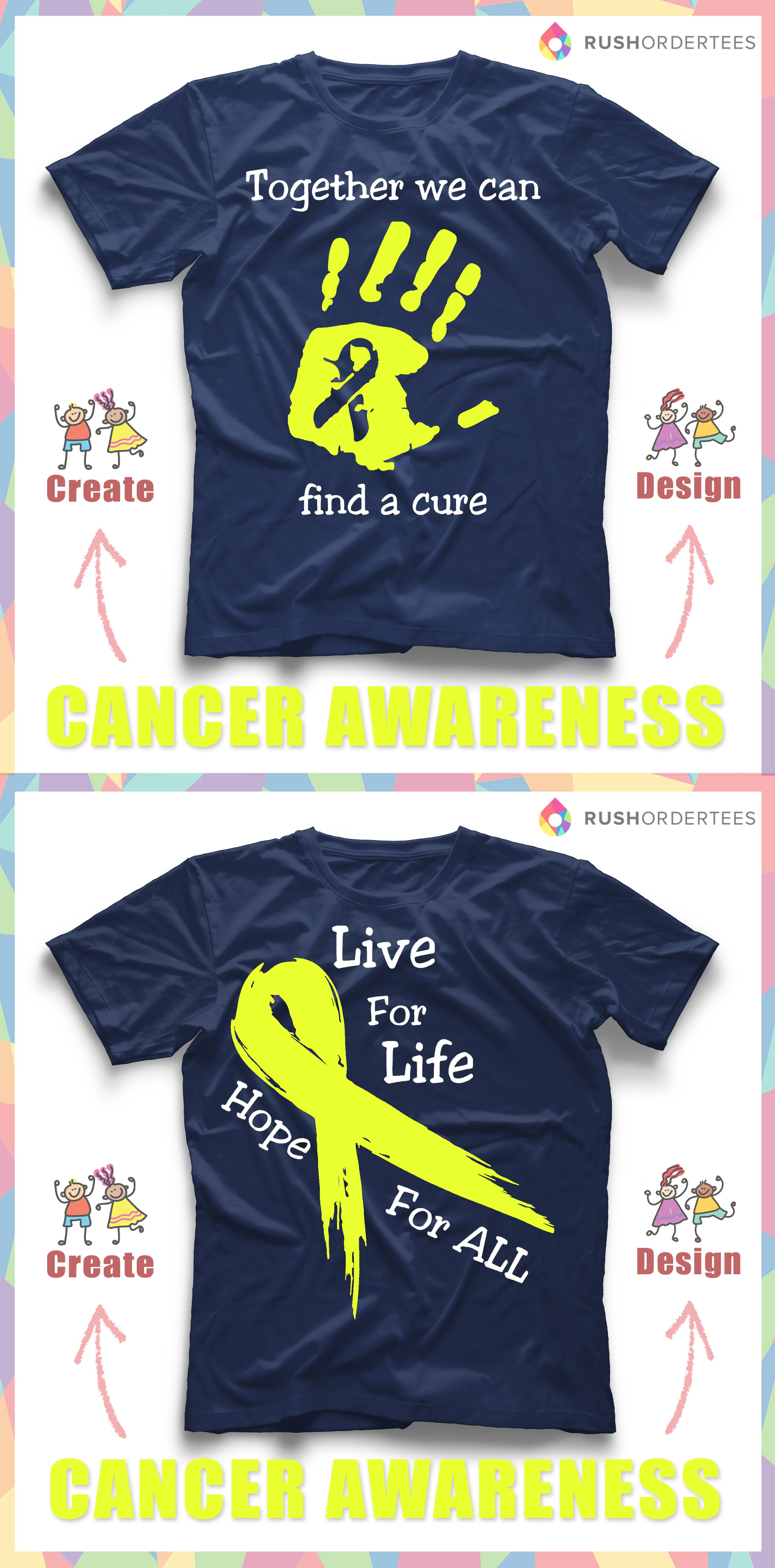 1c942f77f Create custom cancer awareness t-shirts for your next event!  www.rushordertees.com #cancerawareness