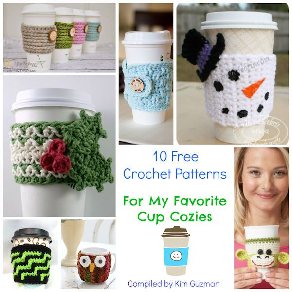 Monday Link Blast: Cup Cozies – Make It Crochet   Crochet ...