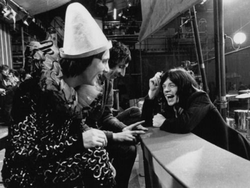 Keith Moon, Pete Townshend and Mick Jagger, 1968