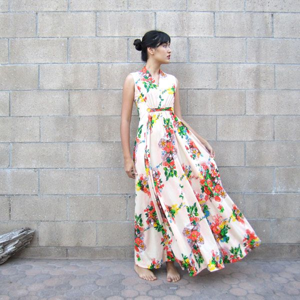 Collection White Floral Maxi Dress Pictures - Reikian