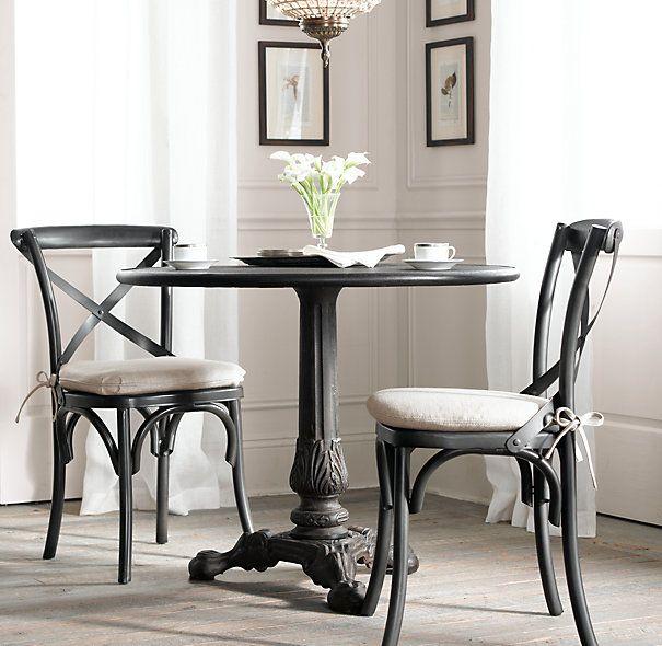 Wonderful Restoration Hardware Metal Madeleine Side Chairs For Brasserie Table