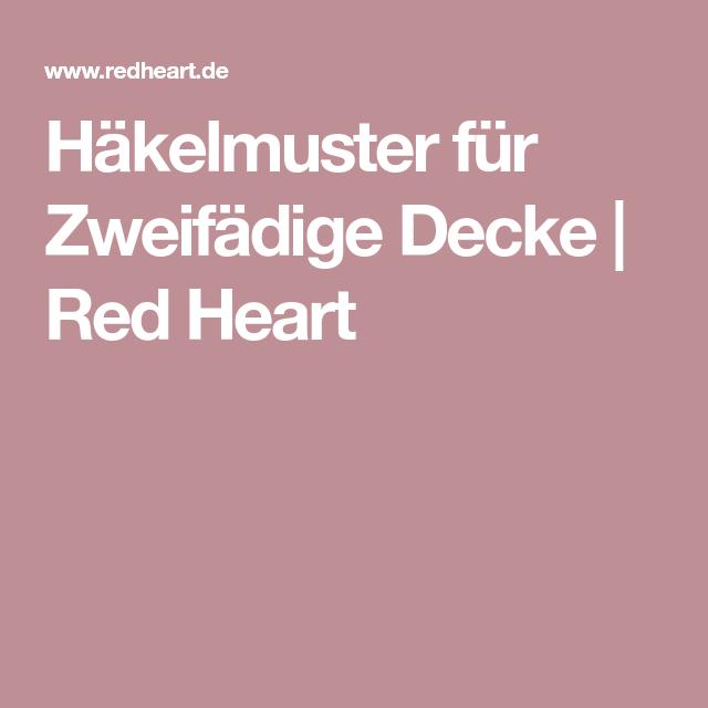 Häkelmuster für Zweifädige Decke | Red Heart