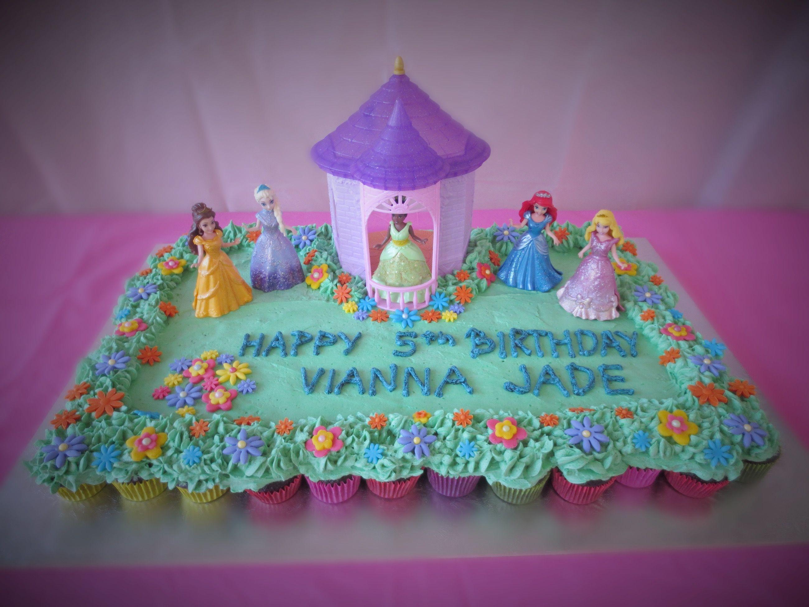Fabulous Disney Princess Birthday Cake Pull Apart Cupcakes Cake Easy Funny Birthday Cards Online Inifodamsfinfo