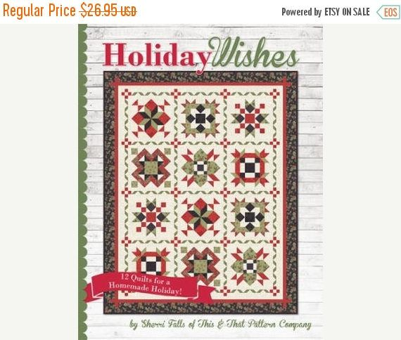 Clearance SALE Book~ Holiday Wishes by Sherri Falls by It's Sew Emma Patterns , Fast Shipping BK177