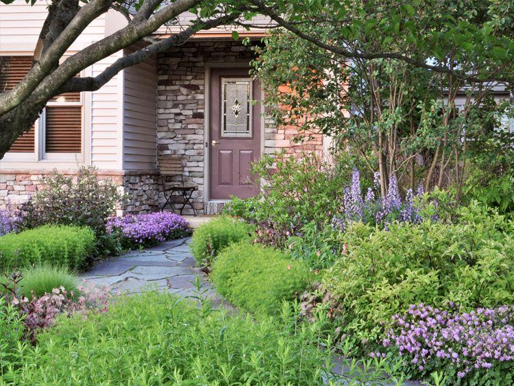 Superior Natural Front Yard Landscape Natural Landscape