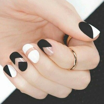 ↬simple black and white nails↫ - ↬simple Black And White Nails↫ Nailed It! Pinterest White Nails