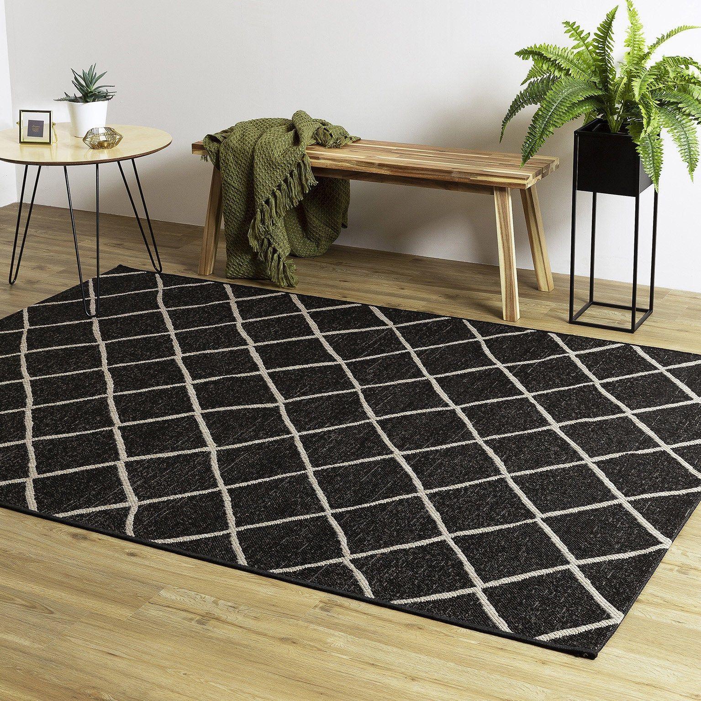 Tapis Noir Rectangulaire L 160 X L 230 Cm Sisal Floor