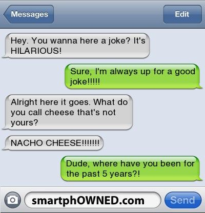 Because All Good Text Message Involve Snack Foods Funny Text Messages Good Jokes Funny Texts