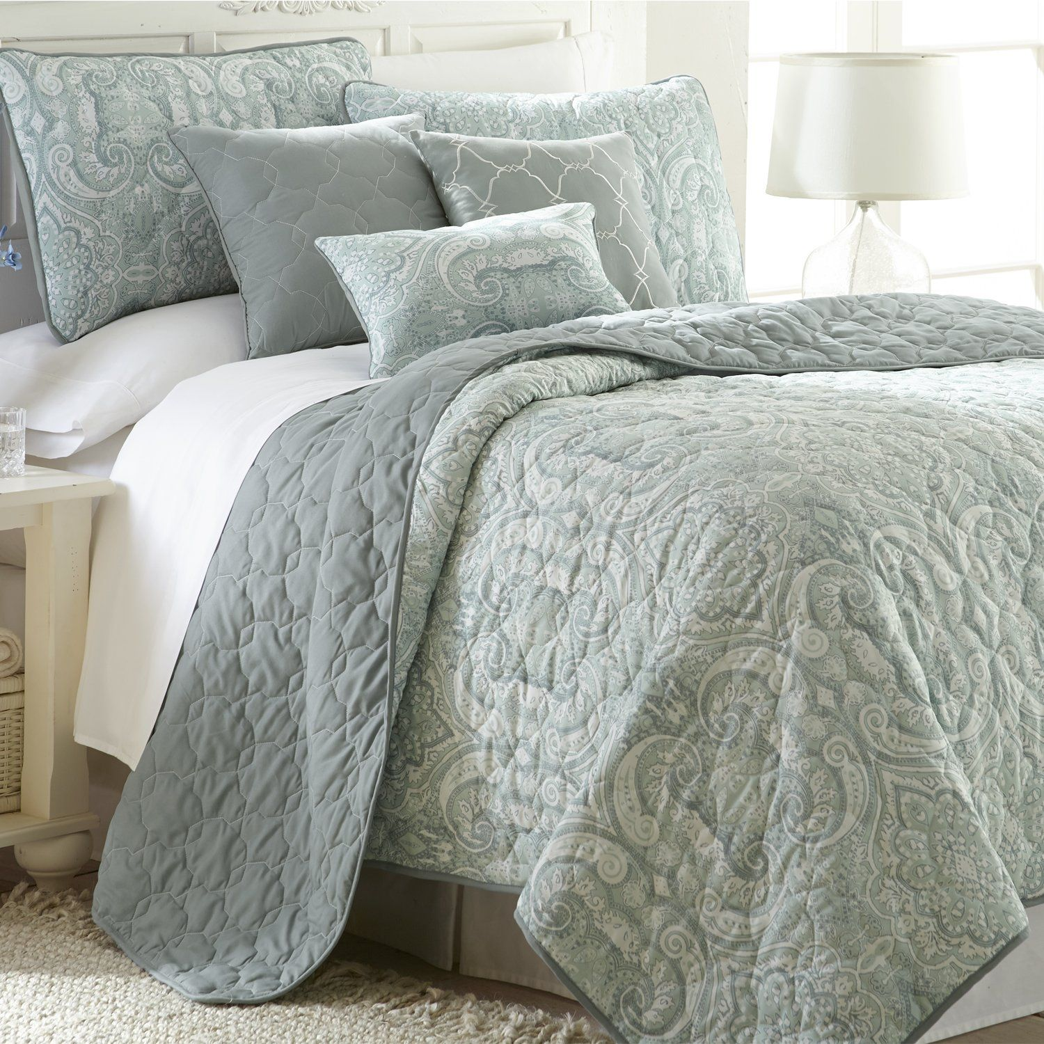 6 Piece Comforter Quilt Bed Set Bedding Luxury Over Sized Bali Queen King Size