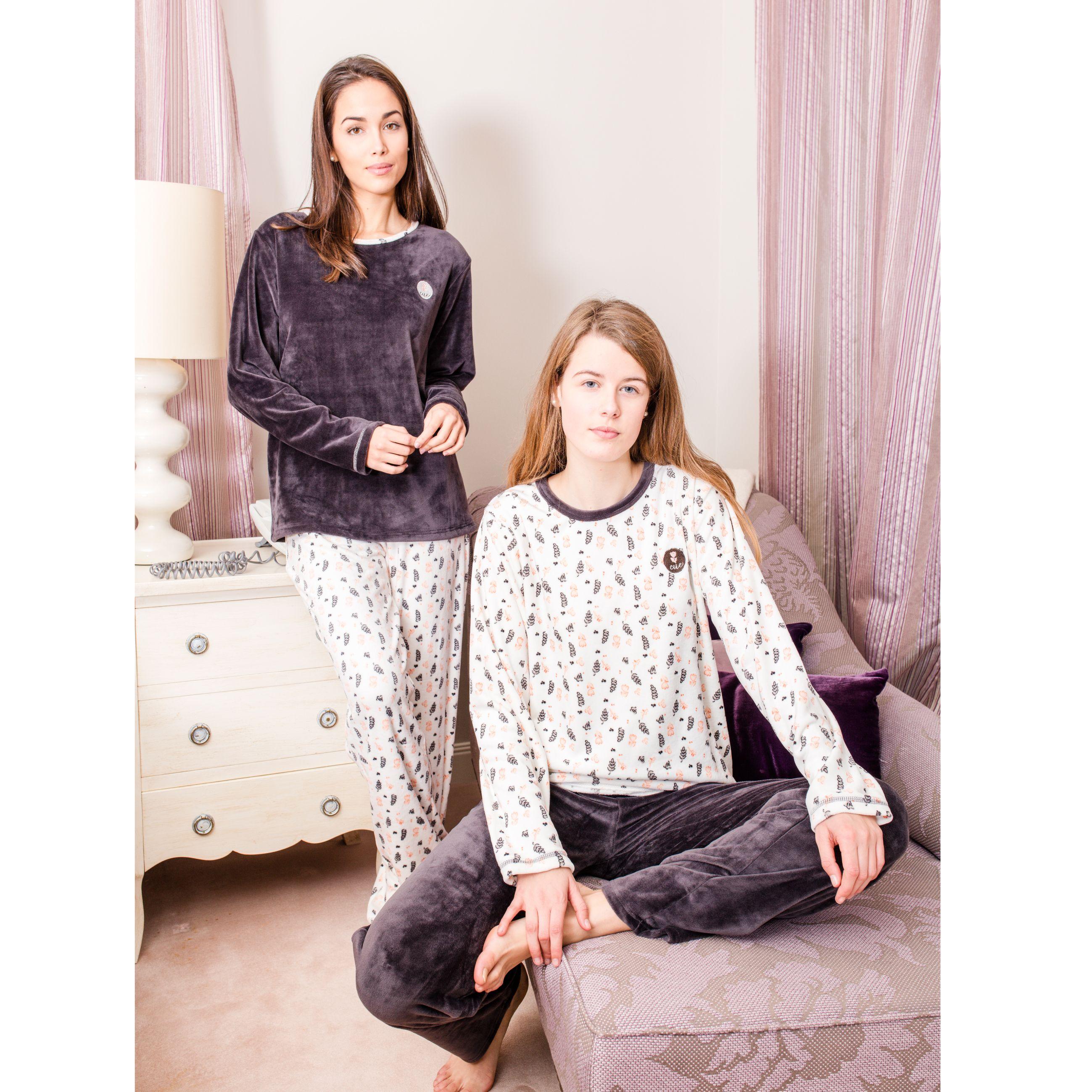 4cdf77b013125 pijama bata señora pantalon camiseta largo leggings conejo rayas azul  marino rojo marinero algodon robe pajama rabbit homewear sleepwear invierno  winter ...