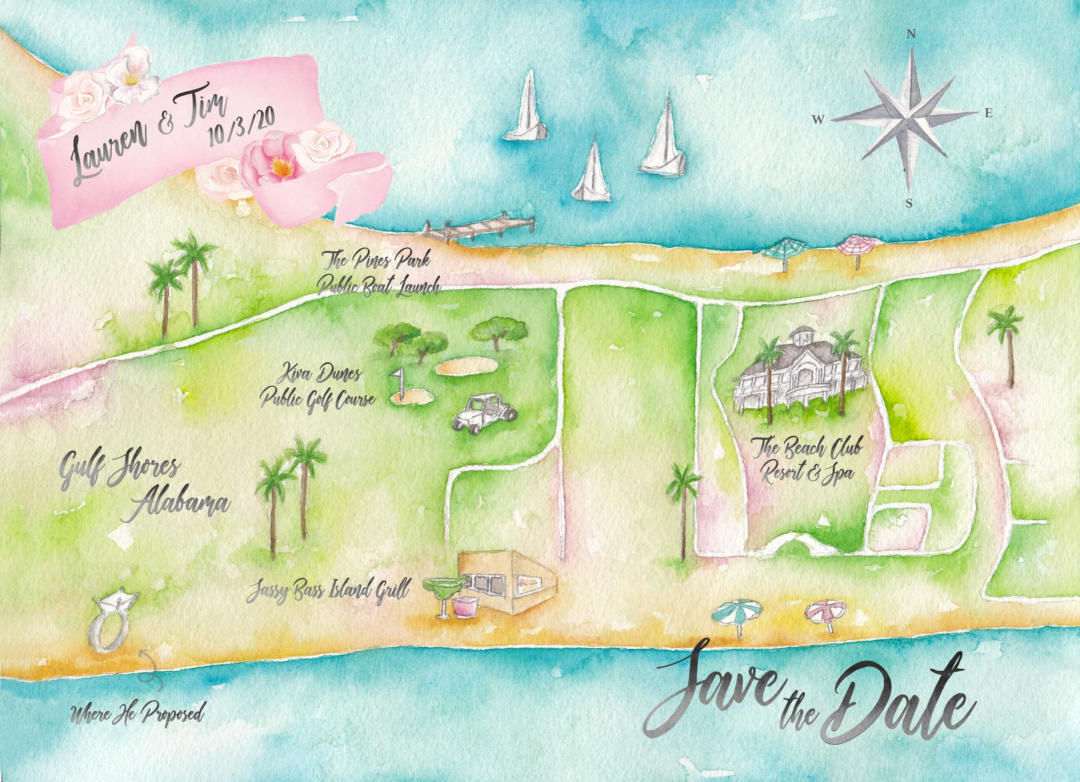 Pin On Watercolor Wedding Maps