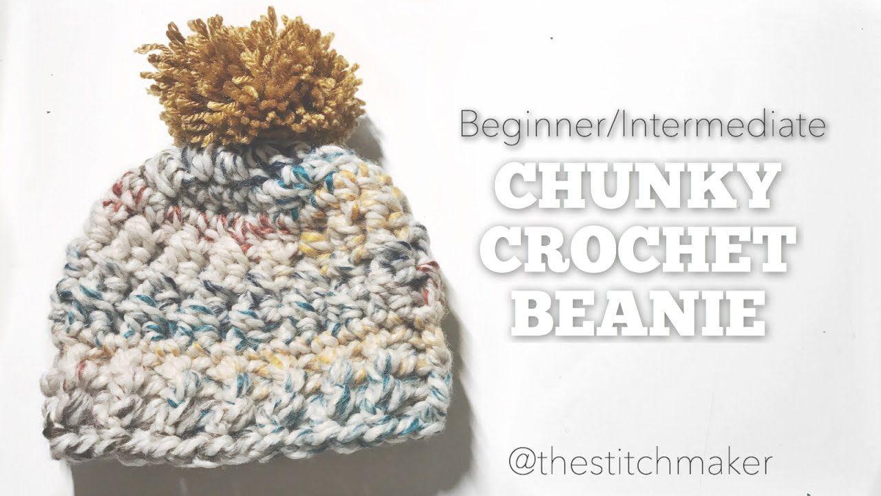 Beginner/Intermediate Chunky Crochet Beanie | thestitchmaker ...
