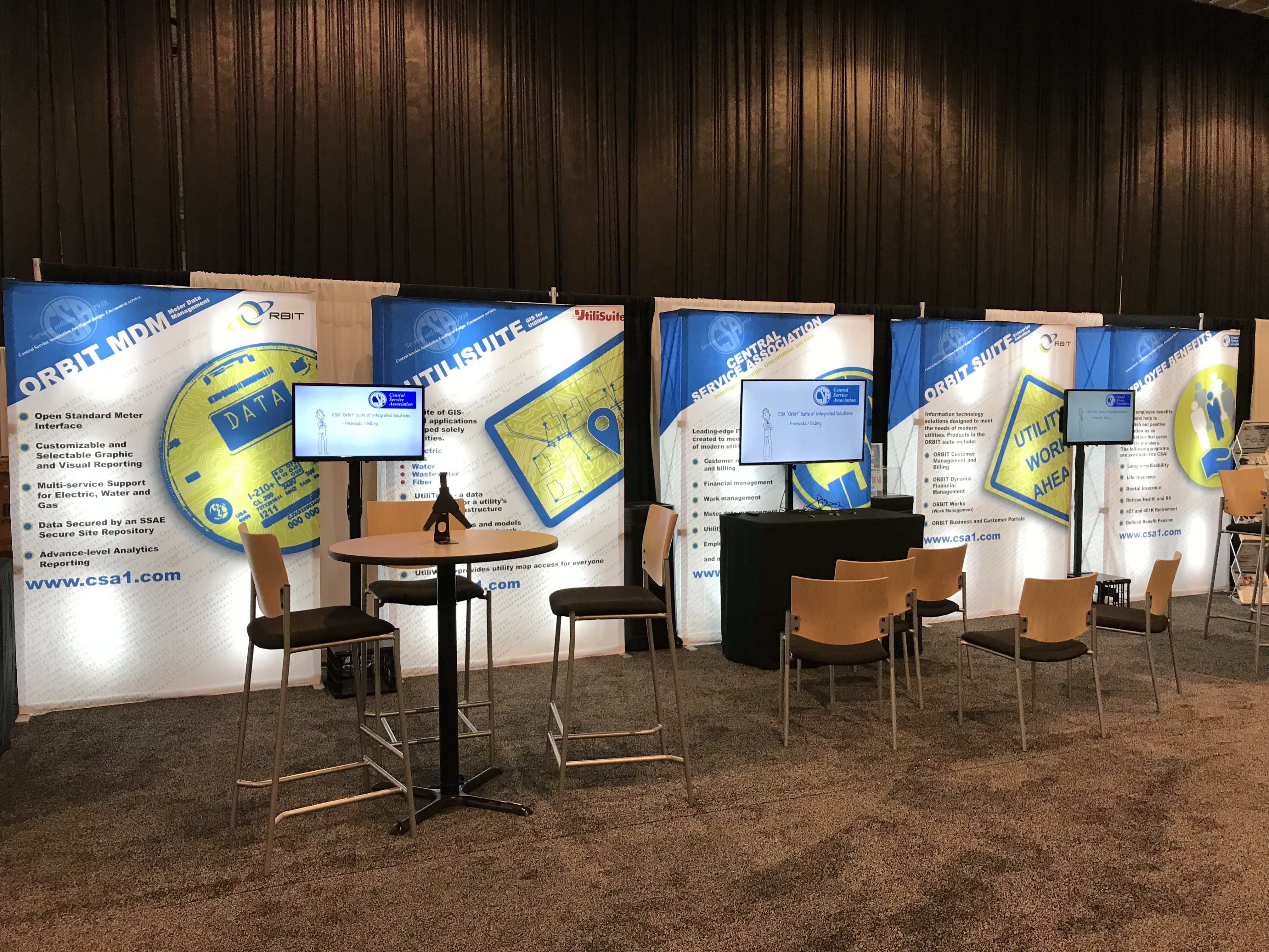 Trade Show Booth Exhibitors : Pop up displays portable booths what s the no thing trade