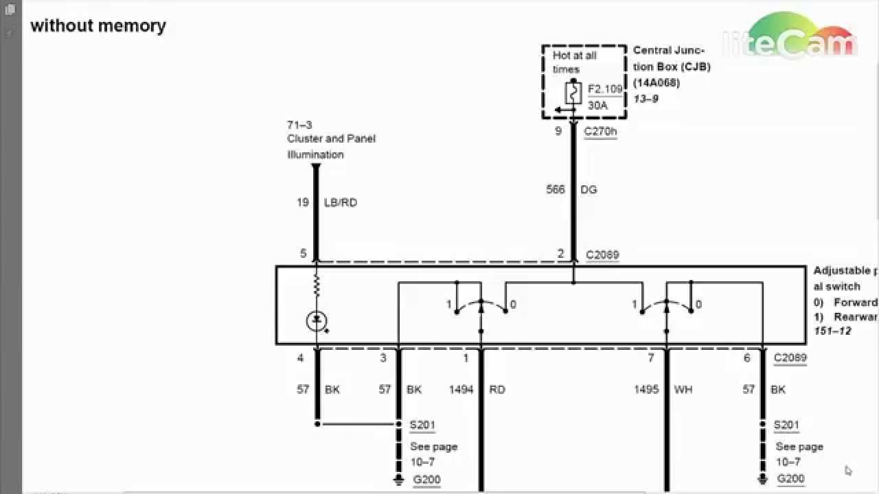 adjustable pedals ford wiring diagram