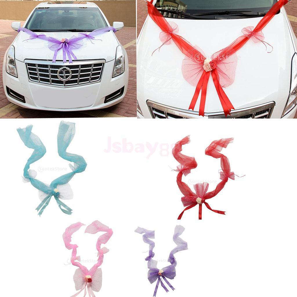 Wedding car decoration ideas    Wedding Car Decorations Kit Ribbons Flower Bow Garlands