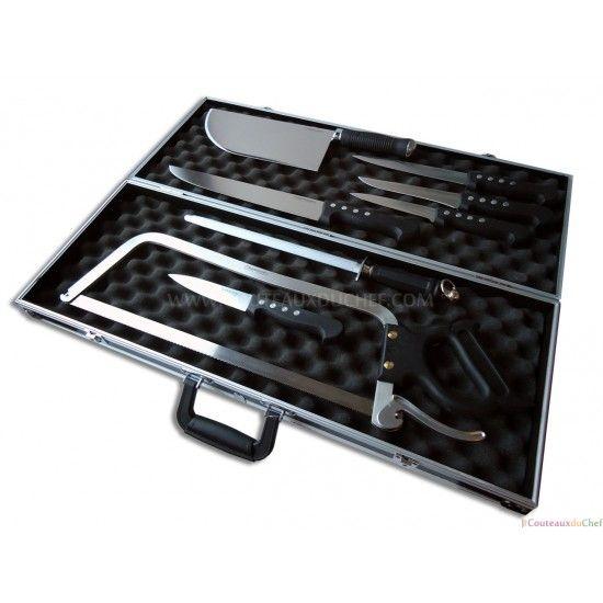 Malette de 8 couteaux professionnels pour bouchers BARGOIN Manche ABS