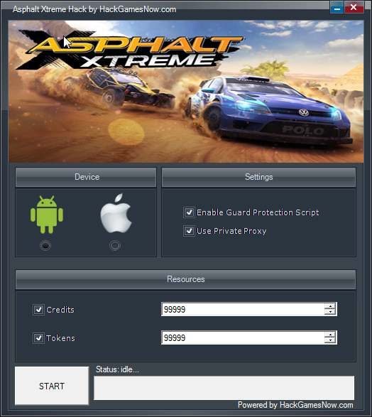 Asphalt Xtreme Hack for Credits and Tokens [AndroidiOS