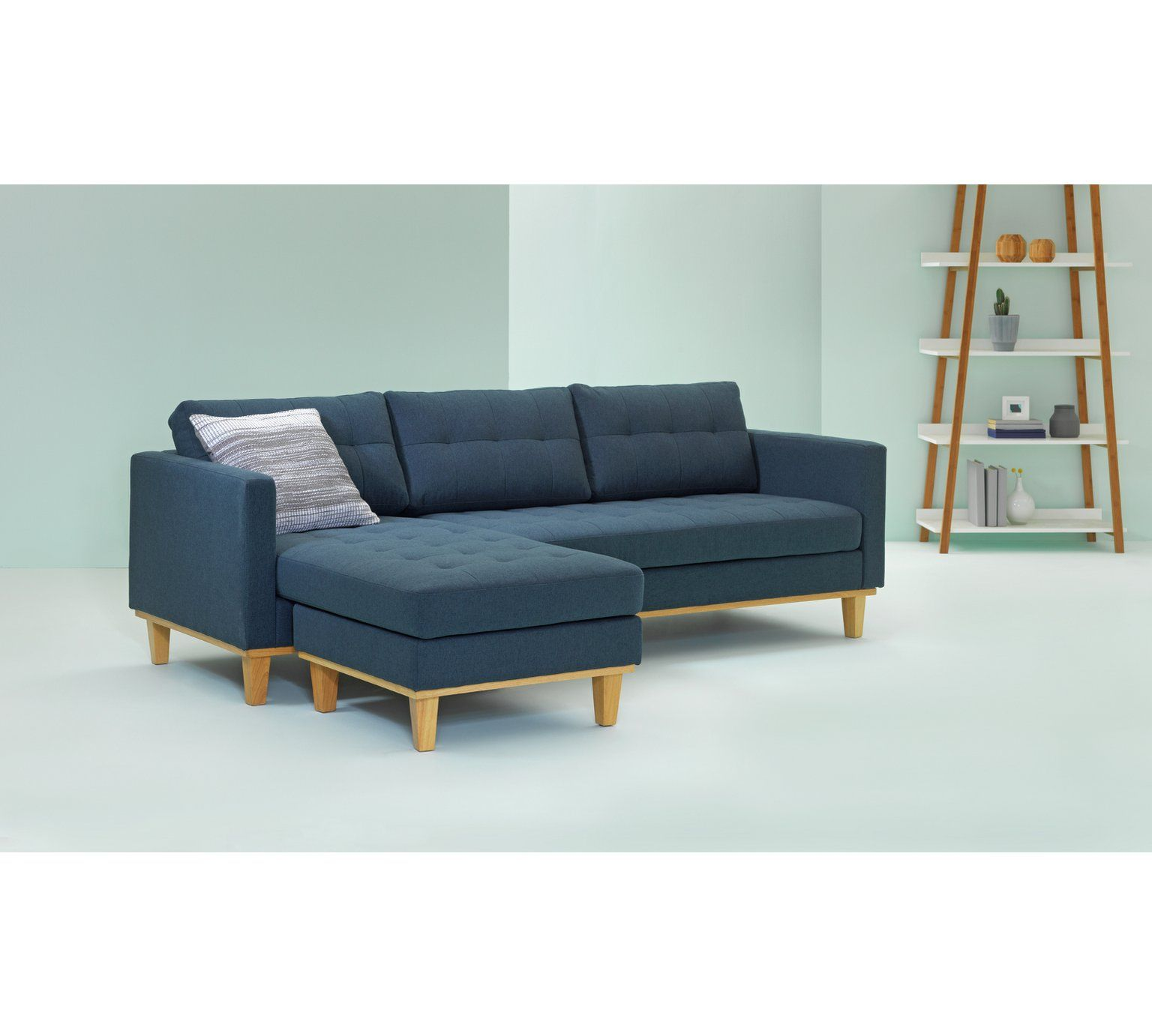 Buy Hygena Aliso Reversible Corner Chaise Sofa - Denim Blue at Argos ...
