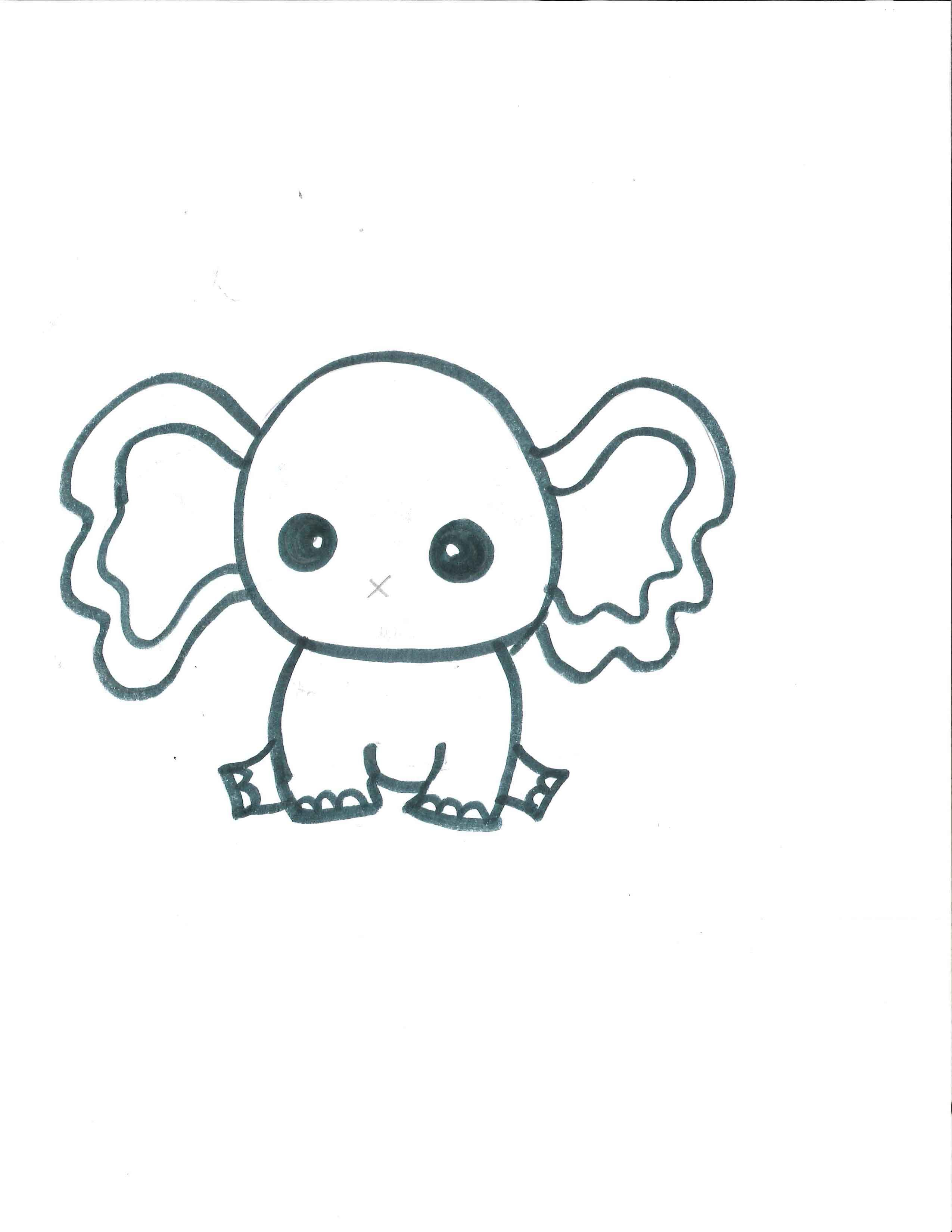 Printable Template For The Elephant Party Blowers I Used A Hole Punch For The Nose And Then
