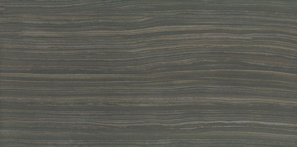 Strand Porcelain Tile Linear Stone Look Moro Black Floor Tile