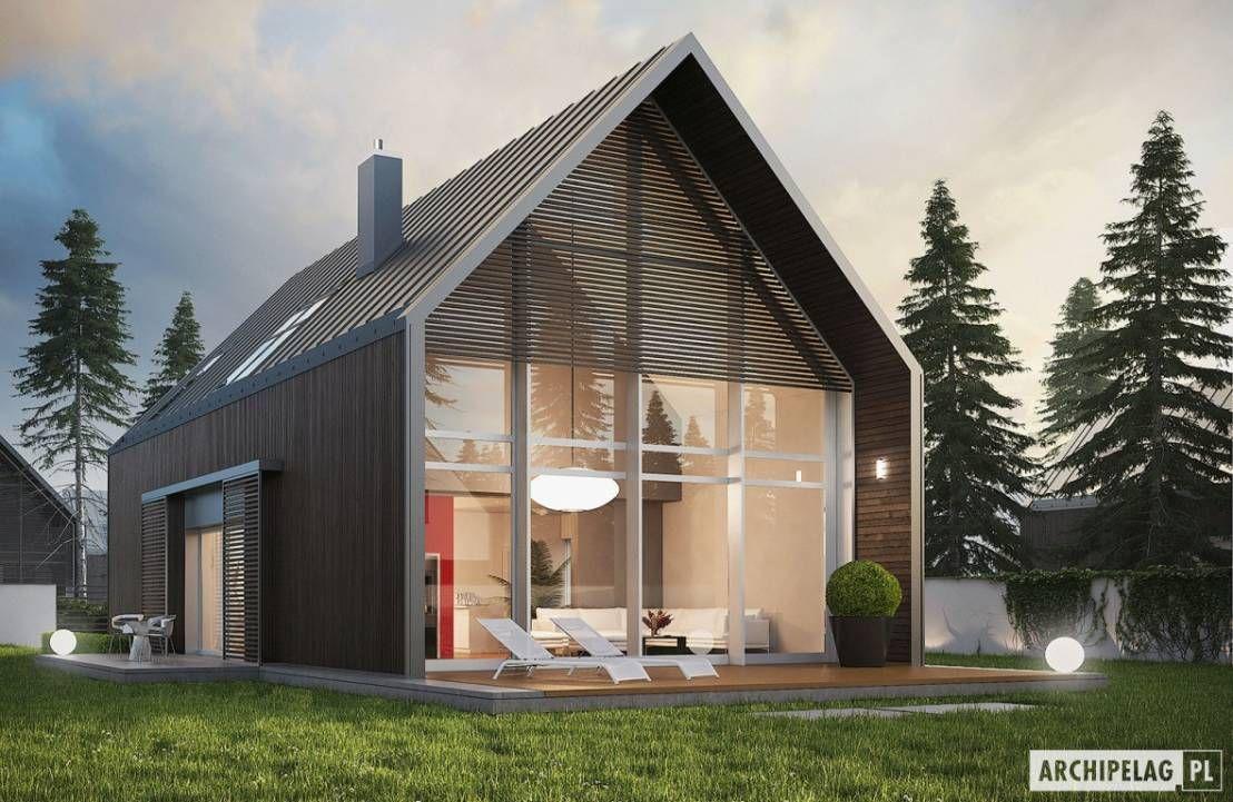 Projekt domu ex 13 nowoczesna stodoła w gorgeous modern facade of a simple single roof home najlepszym wydaniu by pracownia projektowa archipelag