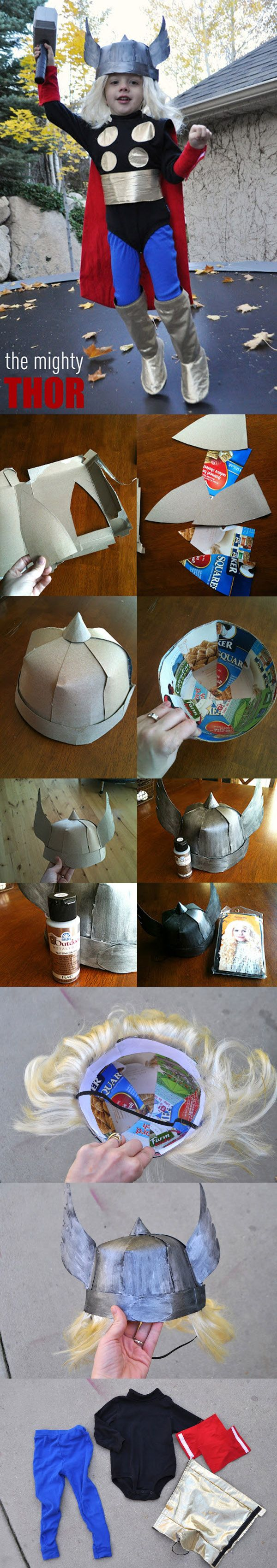 DIY  ::  Thor Costume ( http://www.iammommahearmeroar.net/2011/10/thor-costume-for-dailybuzz-moms-9x9.html )