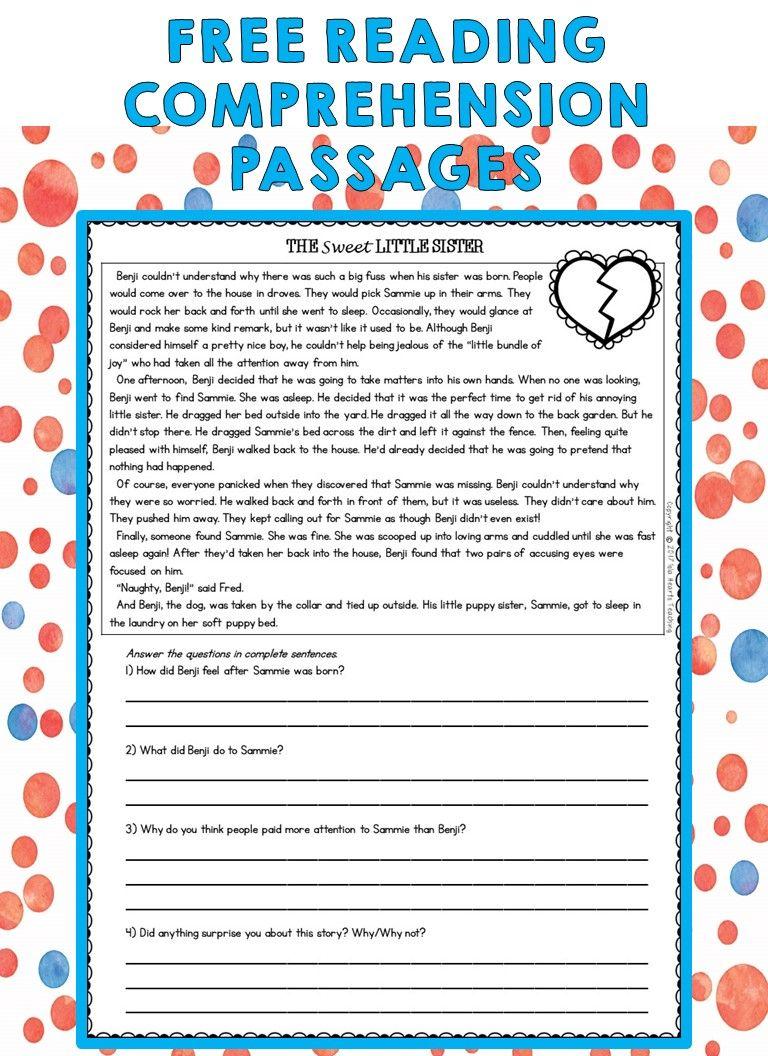 - Third Grade Reading Comprehension Passages And Questions (FREE