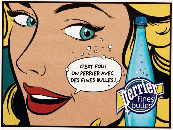 Perrier été 2012 Une Campagne Pop Art Pop Art Bande Dessinée Pop Art Art Américain