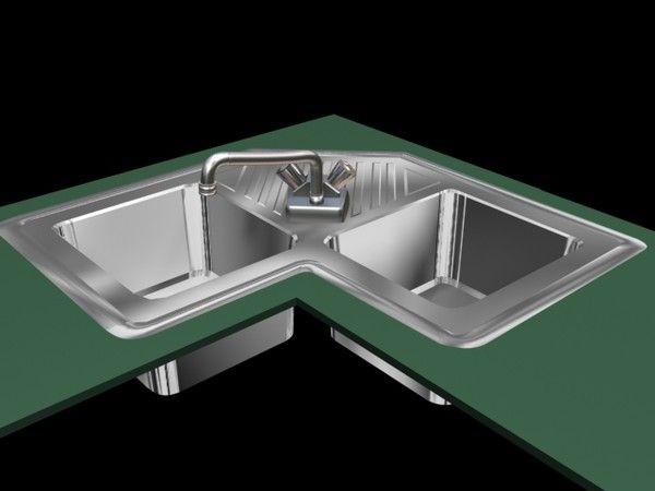 Corner Kitchen Sink 3d Model 35 Kitchen Sink By Videovic Corner Sink Kitchen Sink Kitchen Sink