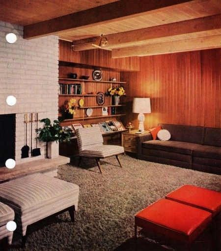 Mid century modern living room by tikitacky on flickr for Wohnzimmer 1960